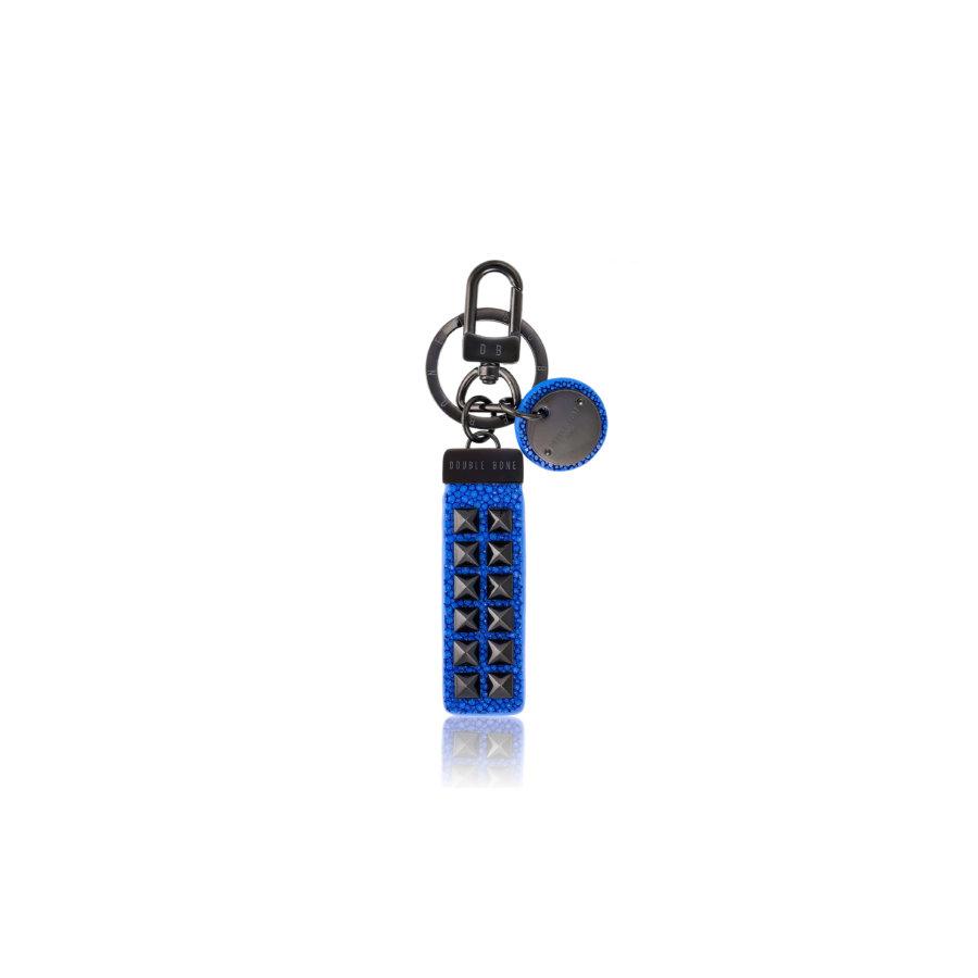 Blue stingray Keychain with Black Studs.