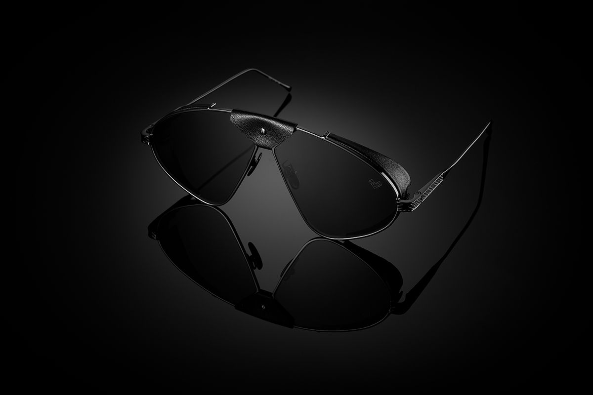Luis Fonsi - F -2 + Gun Metal Frame + Black Lenses + Black Leather