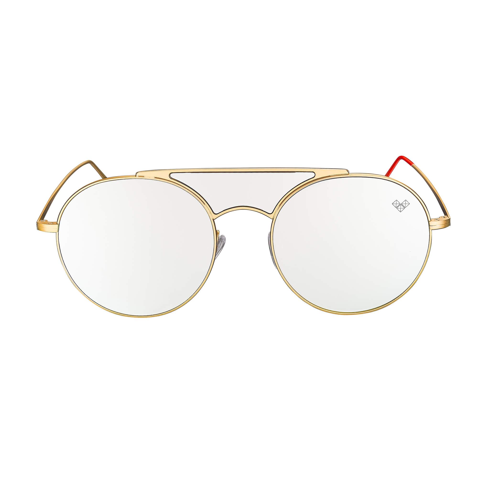 Kalai - Ariadna Gutierrez - KL - 3 + Matte Gold Frame + Silver Mirror Lenses