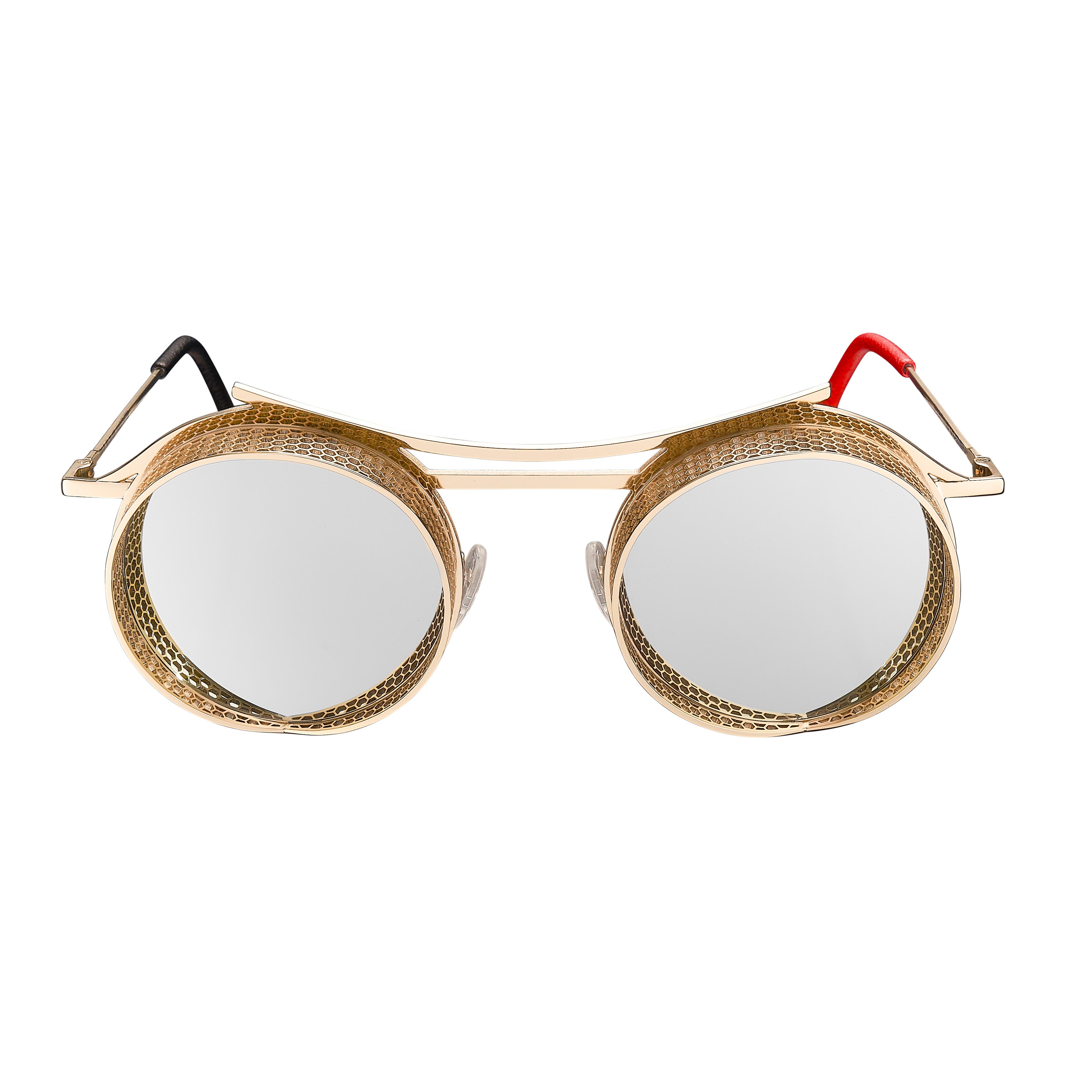 ONIX - OX - 3 - Shiny Gold Frame + Silver Mirror Lenses