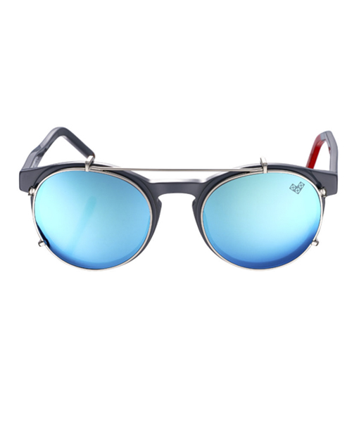 AVIVA-Av 3 Clip with Blue Mirror Lenses