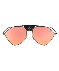 LETEC-LT-6RS - Gun Metal Frame - Rose Gold Mirror Lenses + Black Leather