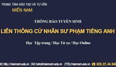 Liên thông Đại học ngành Sư phạm Tiếng Anh tại TPHCM