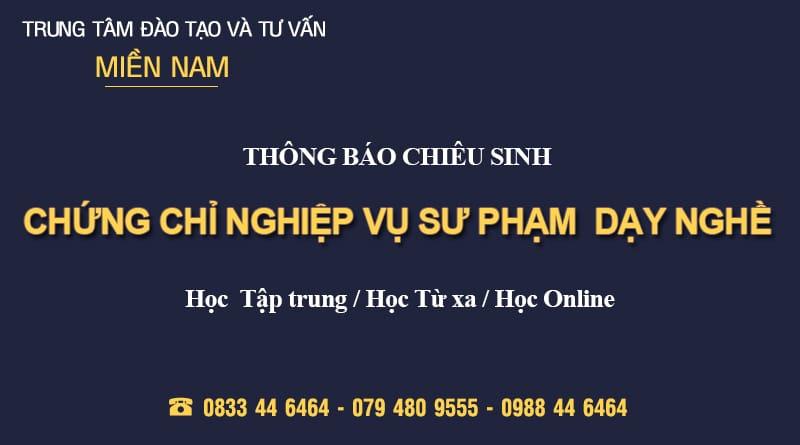 Chung chi nghiep vu su pham day nghe
