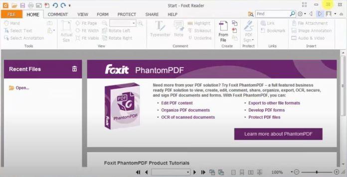 Tiến hành chọn file PDF cần điền thêm chữ bằng phần mềm Foxit Reader