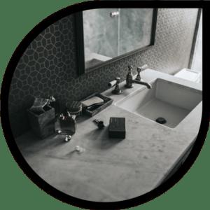 salle de bains panneau stratifie hpl