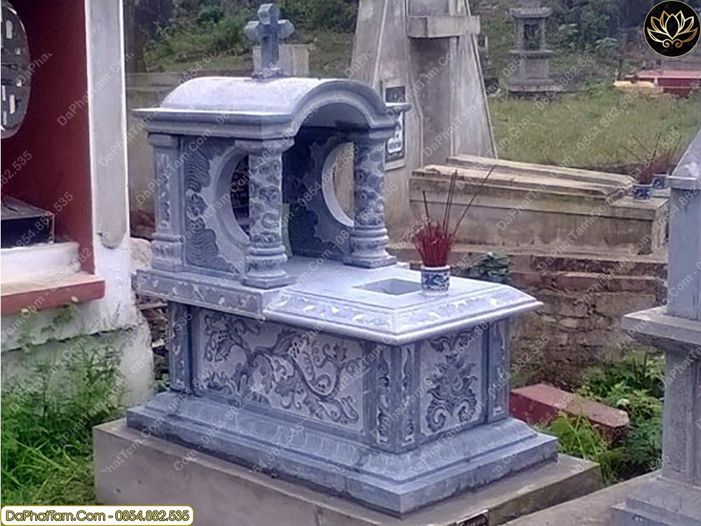 mẫu mộ đẹp, đơn giản, đá phát tâm