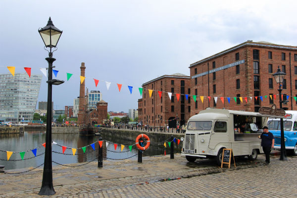 albert dock liverpool highlight volkswagen bus