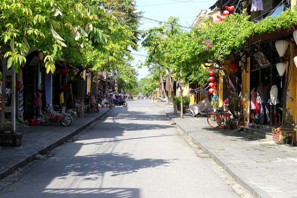 De gezellige straten van Hoi An