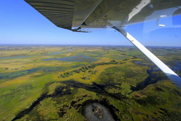 vliegen okavango delta