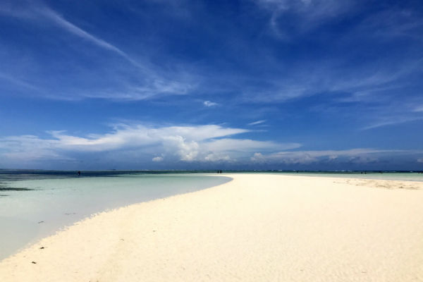 tropisch wit strand op zanzibar