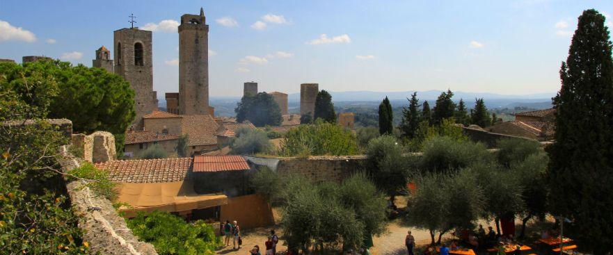 De torens van het Middeleeuwse San Gimignano in Toscane
