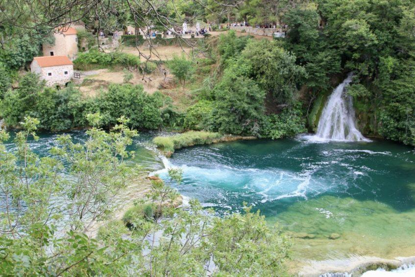 De prachtige kleuren van Krka National Park