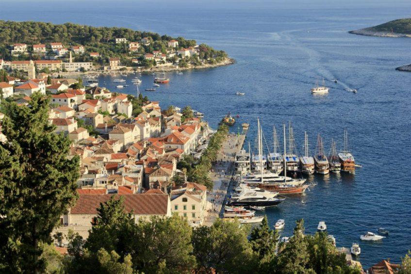 Hvar op het gelijknamige eiland in Dalmatie Kroatie