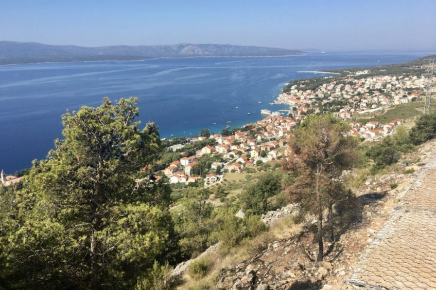 Op pad met de Nissan Mirca Cabrio tijdens mijn rondreis Dalmatie op Brac eiland