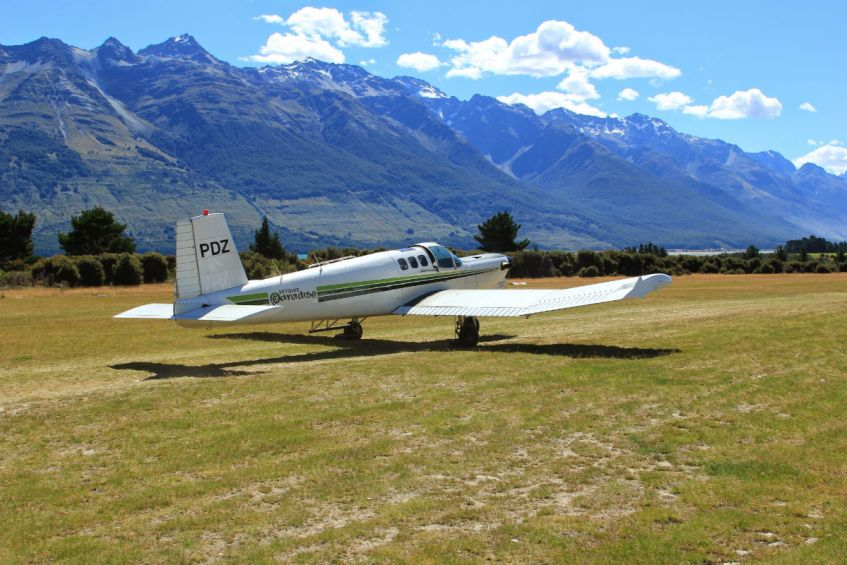 Het vliegtuigje waaruit ik mijn skydive maakte in Nieuw Zeeland nabij Glenorcy