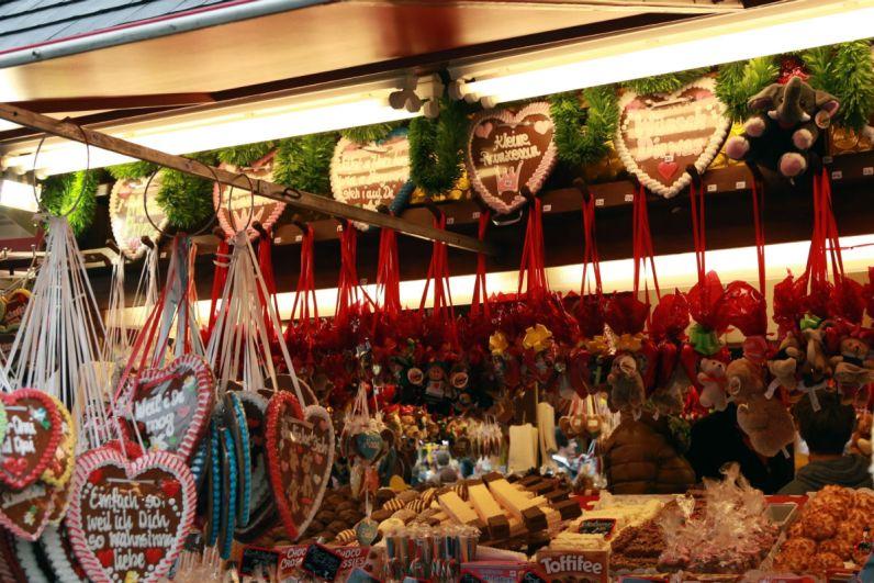 Snoepgoed tijdens het Oktoberfest in Munchen