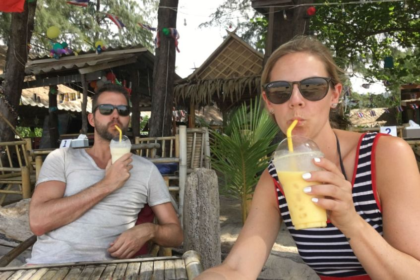 Lekkere shake op Koh Lanta in Thailand