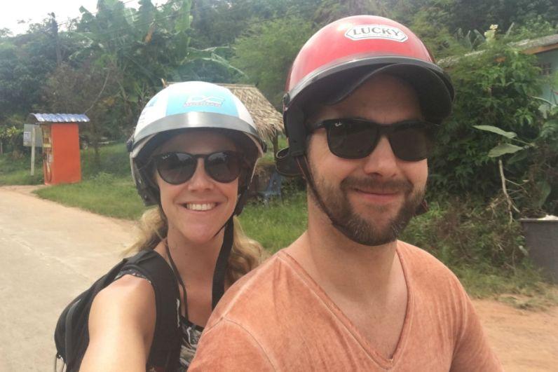 Met de scooter over Koh Lanta eiland