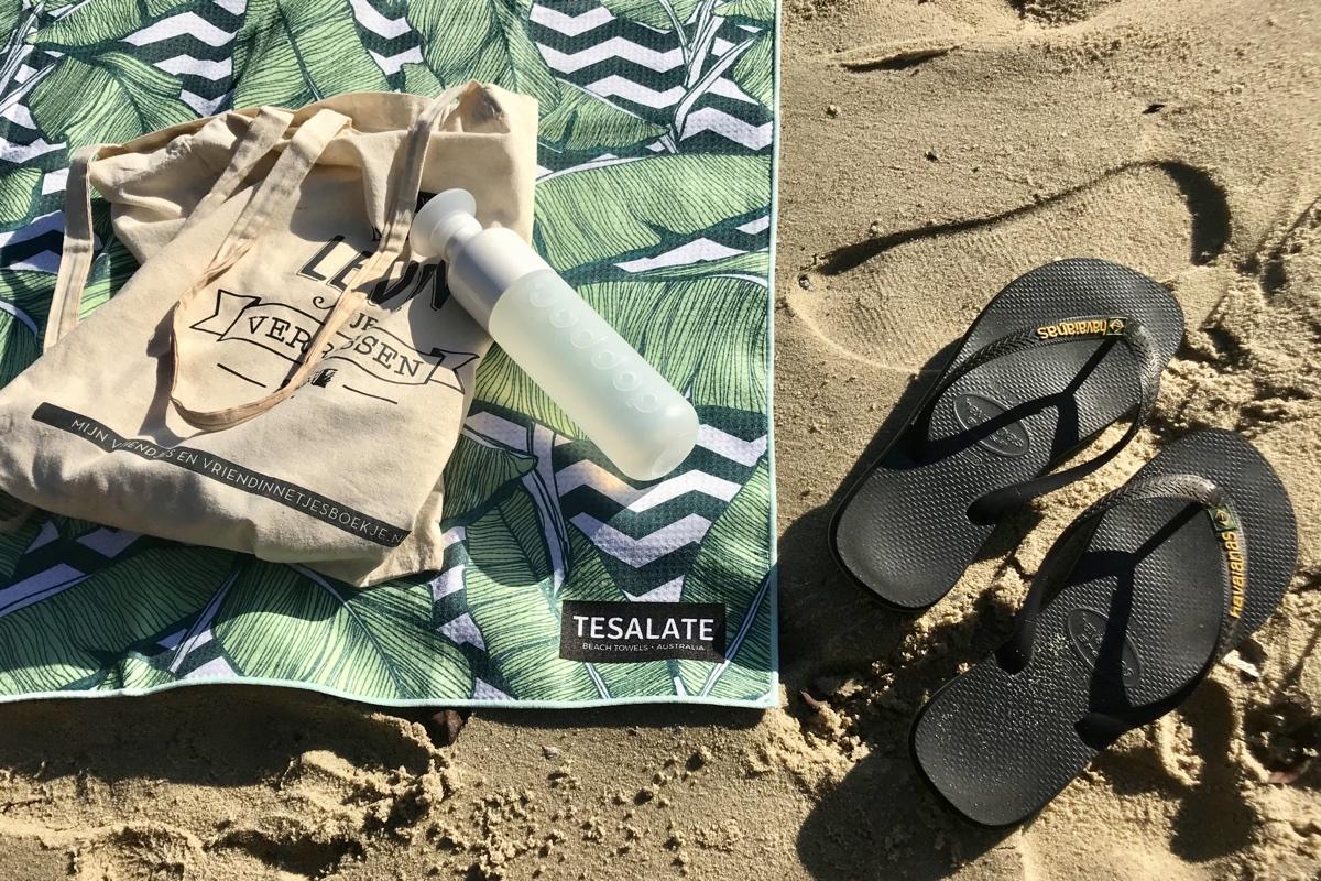 Heerlijk op het Parsley strand met mijn Tesalate handdoek