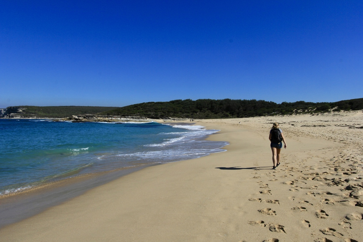 Op Marley Beach onderweg naar Little Marley Beach in het Royal National Park