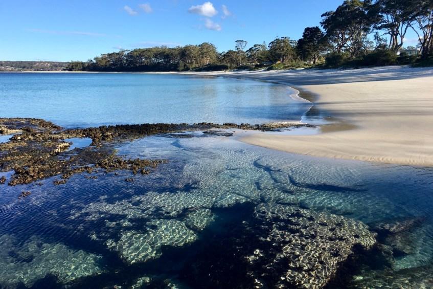 De stranden van Jervis Bay zijn witter dan wit en lekker rustig in de winter