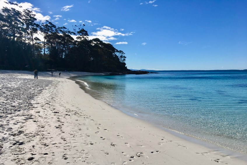 De stranden van Jervis Bay zijn witter dan wit en op slechts 3 uur rijden vanuit Sydney