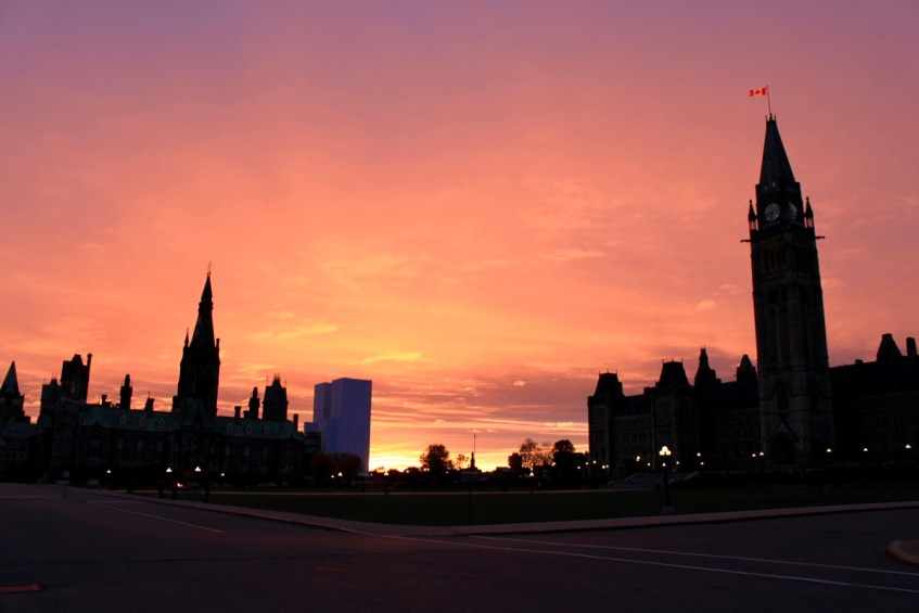 Parliament Hill in Ottawa is bijzonder en hoort thuis in een rondreis Canada & New York