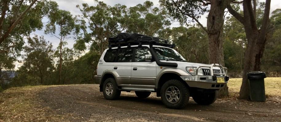 Onze Prado Snowy is klaar voor de roadterip door Australie 5 maanden met een 4x4 met daktent