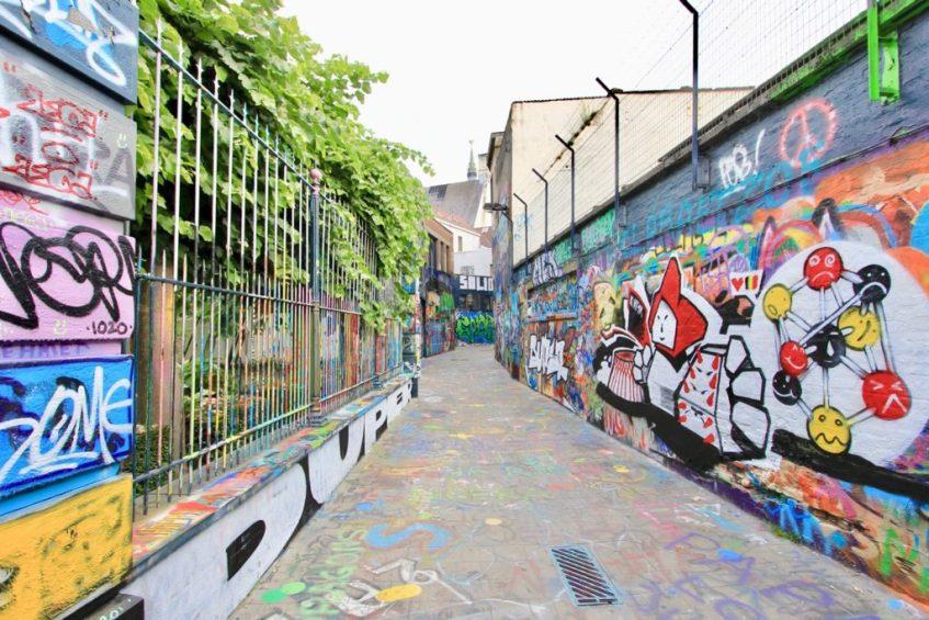 Een leuke bezienswaardigheid in Belgie is het graffiti straatje in Gent