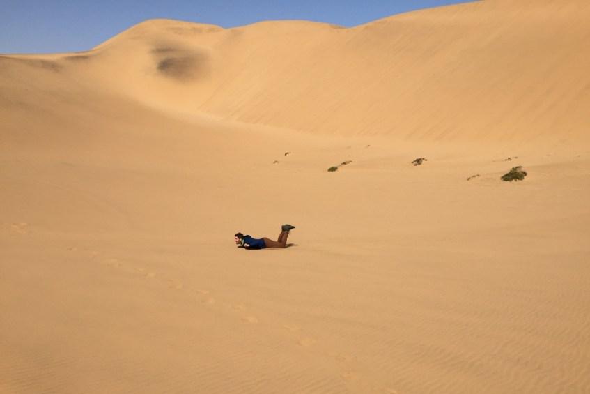 Zeker doen in Swakopmund is sandboarden