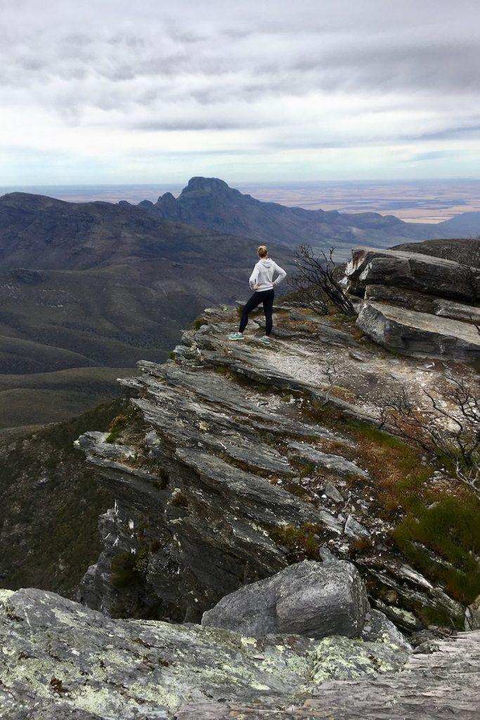 De wandeling naar Bluff Knol in Stirling Range National Park was super pittig maar erg mooi
