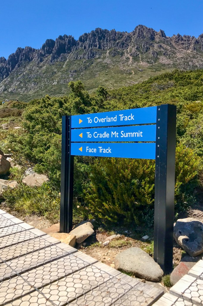 Op naar de top van Cradle Mountain in Tasmanie Australie