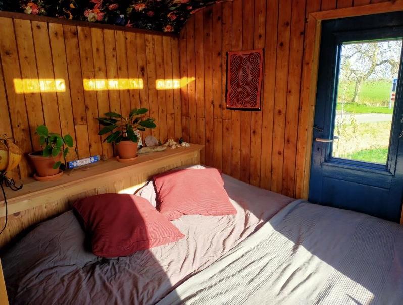 Romantisch overnachten in Groningen? Verblijf in deze leuke pipowagen natuurhuisje in Sauwerd op het Groningse platteland