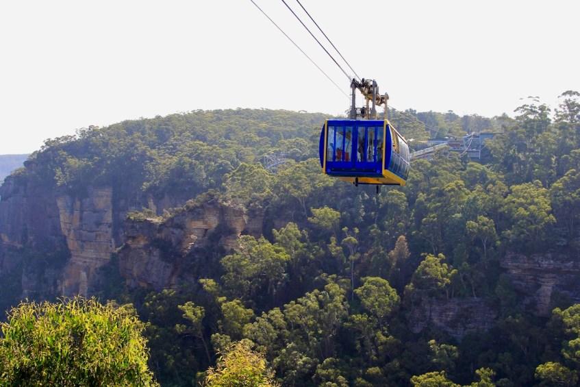 Maak een ritje in de Scenic Skyway als je de Blue Mountains in Australie bezoekt