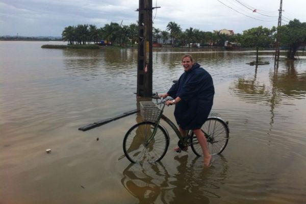 Net na een tropische storm is het best pittig fietsen
