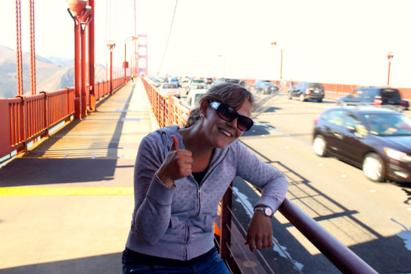 Op de fiets over de Golden Gate Bridge