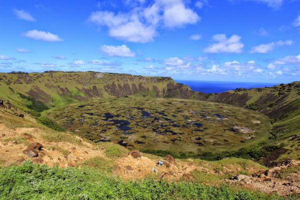 De prachtige Ranu Kau Vulkaan