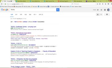 TESOL in Google search