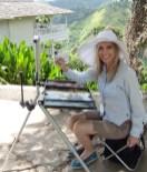 Nixon paints at Strawberry Hill