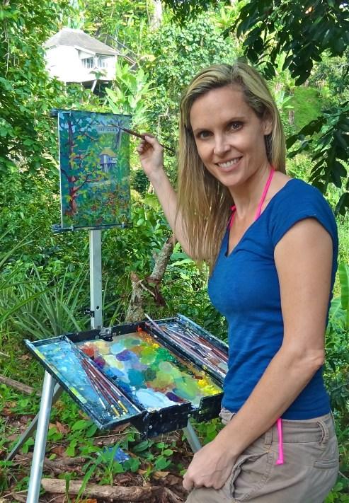 Nixon paints the coffee plantation, Jamaica.