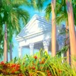 """""Bart's Temple"", oil, 11″ x 14″"
