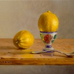 """Hard-boiled Lemon"", oil, by Daphne Wynne Nixon"
