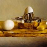 """Egg Squeezer"", oil, by Daphne Wynne Nixon"