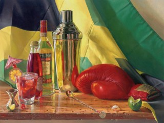 """""""The Jamaican Punch"""" by D. W. Nixon, oil on board, 18"""" x 24"""""""