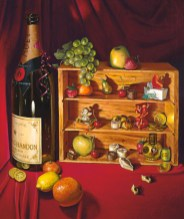 """Sweet Memories"" 18"" x 18"", oil on canvas by Daphne Wynne Nixon"