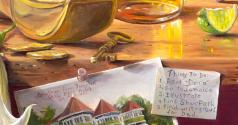 "Detail from ""Dora's Secret"", oil, by Daphne Wynne Nixon"