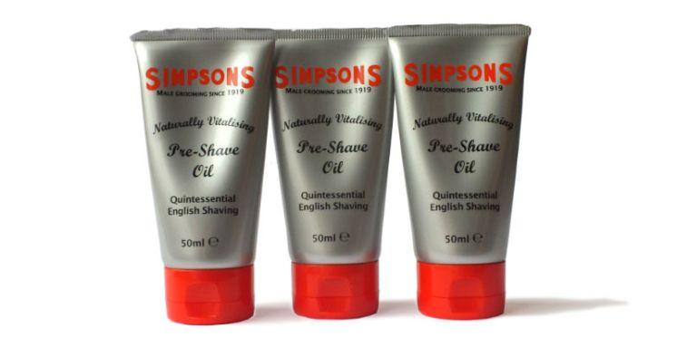 Simpsons shaving oil cut out sh