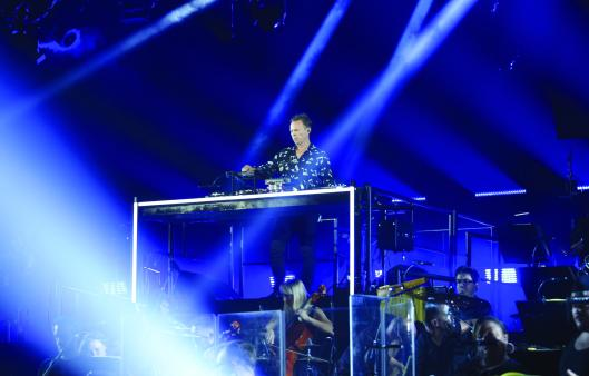 LONDON, ENGLAND - JULY 13: Pete Tong performs at the all-new Jaguar E-Pace reveal at ExCel on July 13, 2017 in London, England. Jaguar's newest model was launched with an epic barrel roll of 15 metres, 30 centimetres and saw renowned stunt driver Terry Grant set a new world record for the longest barrel roll in a production vehicle. (Photo by David M Benett/Dave Benett/Getty Images for Jaguar) *** Local Caption *** Pete Tong