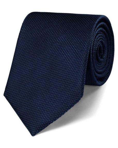 Plain Navy Tie